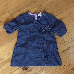 Gap denim dress 6-12 months